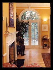 New great room for an artist's historic home near Charlottesville, Virginia, by Candace Smith Architect